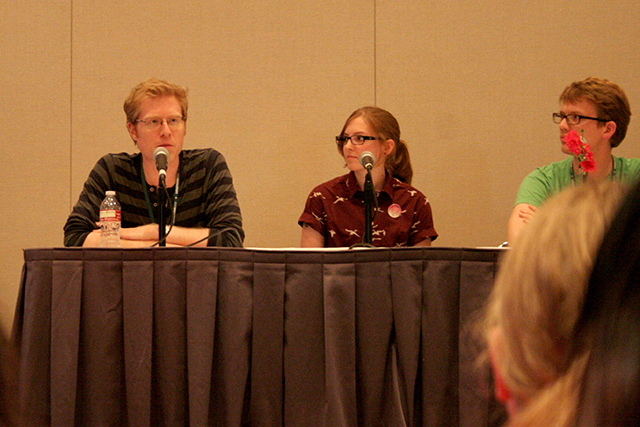 Anthony Rapp, some lady, Hank Green