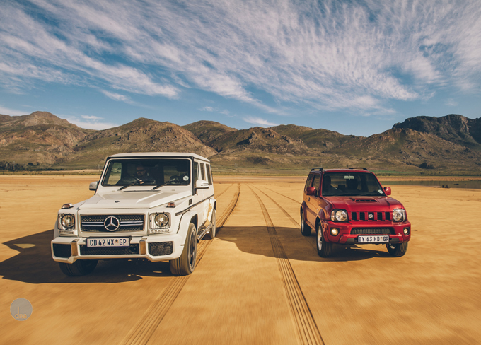 TopGear shoot: Mercedes G-class AMG vs the Suzuki Jimny | DNA
