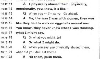 Excerpt from  Marissa Alexander Alleged Victim Deposition.
