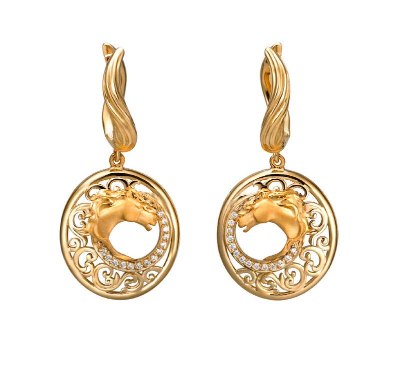 DA13405 010101 Ecuestre earrings in yellow gold and diamonds.jpg