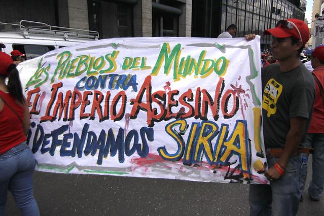 Así marcharon los chavistas en contra del fascismo