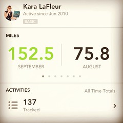 Literally doubled my mileage from the previous month (running, cycling & walking) I wonder what I