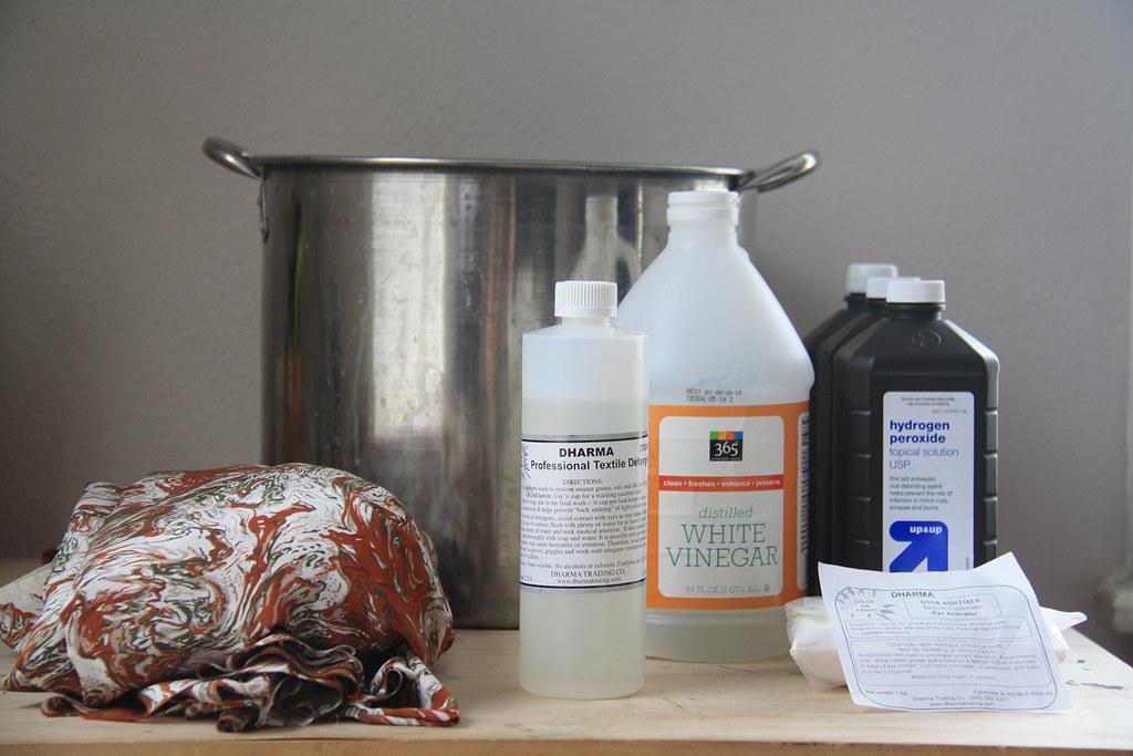weekend diy: bleaching silk with hydrogen peroxide — Lauren
