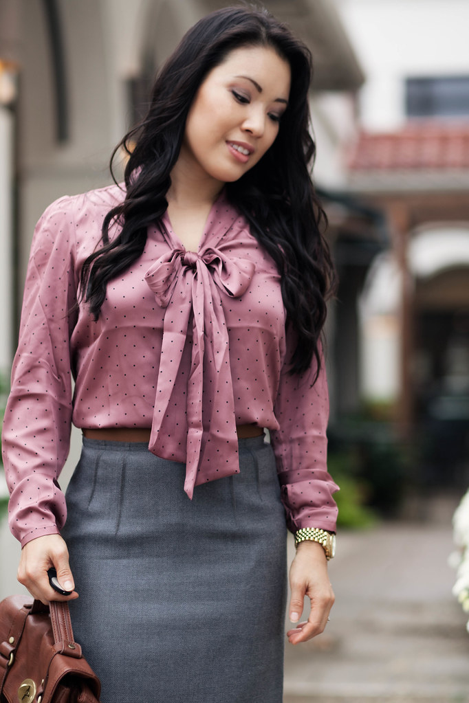 Skirt And Blouse Outfit
