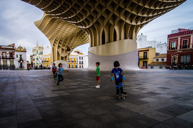 Lots of room for fun at Sevilla's Las Setas, or, Metropol Parasol.