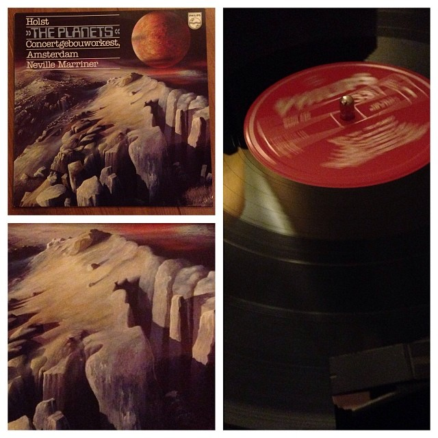 "091113_ #np ""Holst's The Planets"" performed by Concertgebouw Orchestra, conducted by Neville Marriner #vinyl"