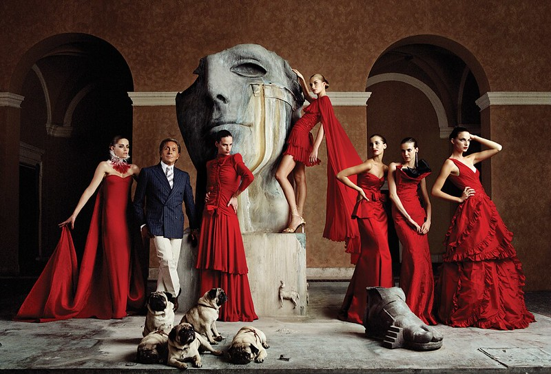 Valentino-with-pugs-and-red-dresses