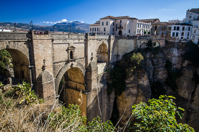 The Puente Nuevo, or New Bridge, in Ronda, Spain.