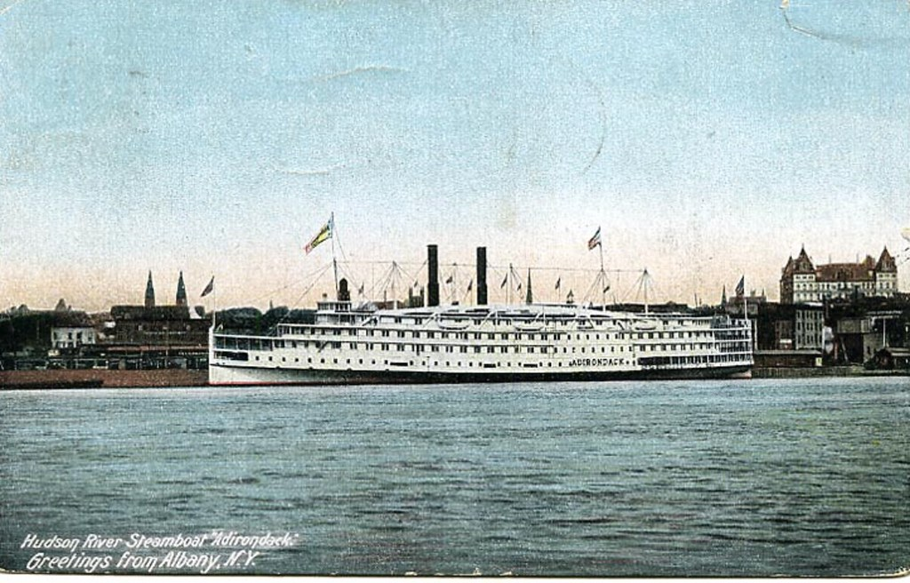 Hudson River Steamship Adirondack  Albany ny early 1900s