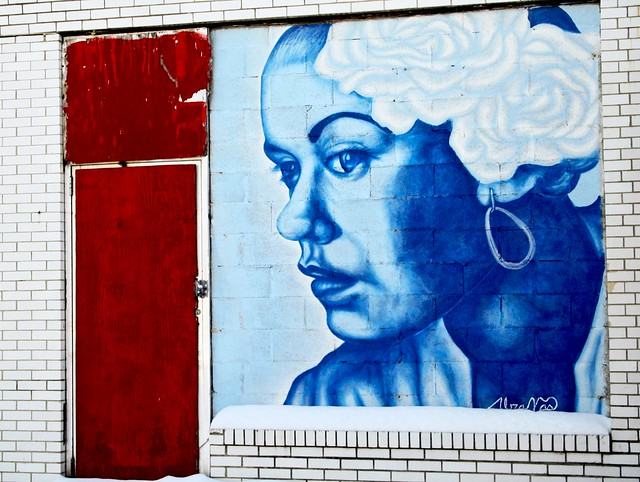 Billie holiday mural columbus ohio located on n for Billie holiday mural