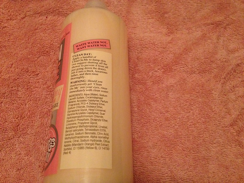Soap & Glory Clean On Me Ingredients