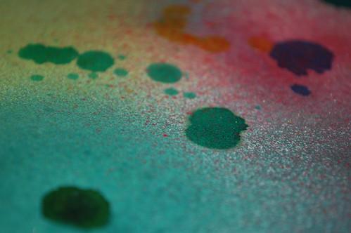 Spray/Inked paper