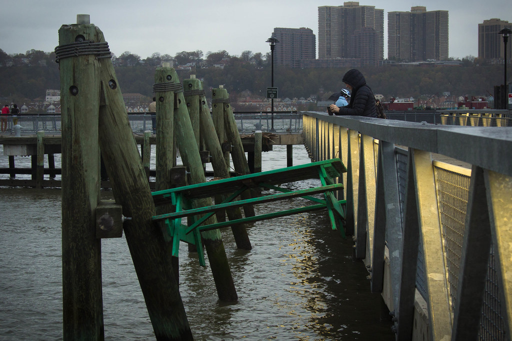 A washed up table after Hurricane Sandy in Harlem, New York.