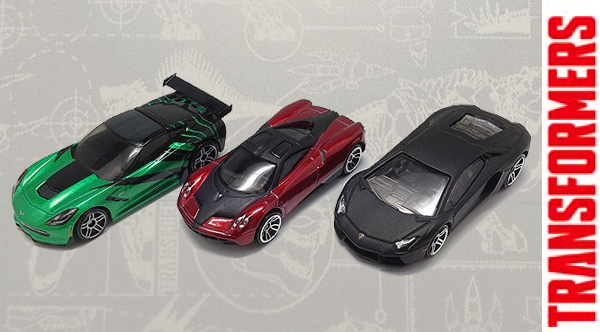 Transformers 4 Diecast Cars