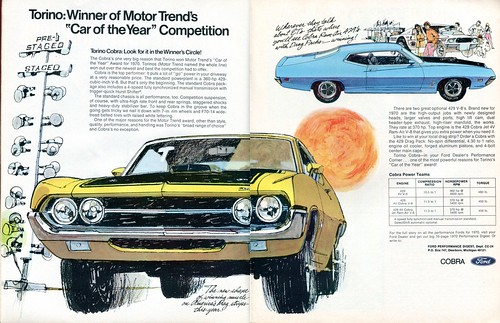 1970 Ford Cobra Jet Torino Advertisement Car Craft Magazine March 1970