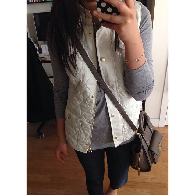 This #BananaRepublic vest was on repeat due to unseasonably warm weather this weekend.