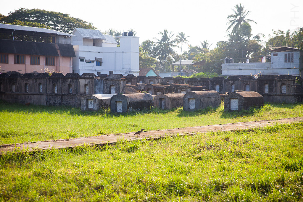 A peek inside the Jewish cemetary in Mattancherry