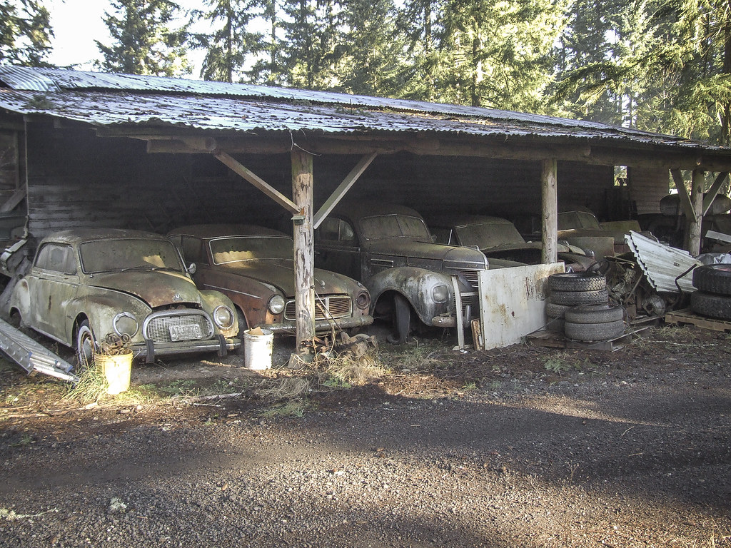 Cars Under the Shed  - Trust Salvage - Auburn WA