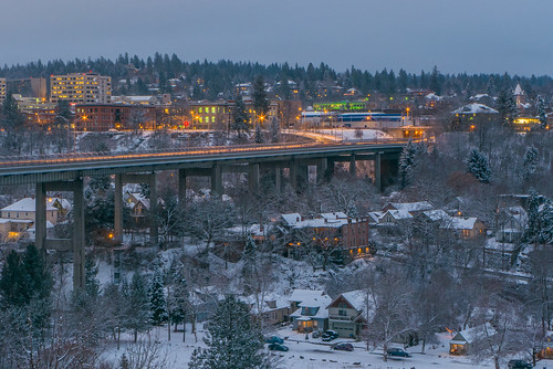 bridge sunset snow spokane raw day washingtonstate lightroom maplestreet spokaneriver easternwashington inlandnorthwest