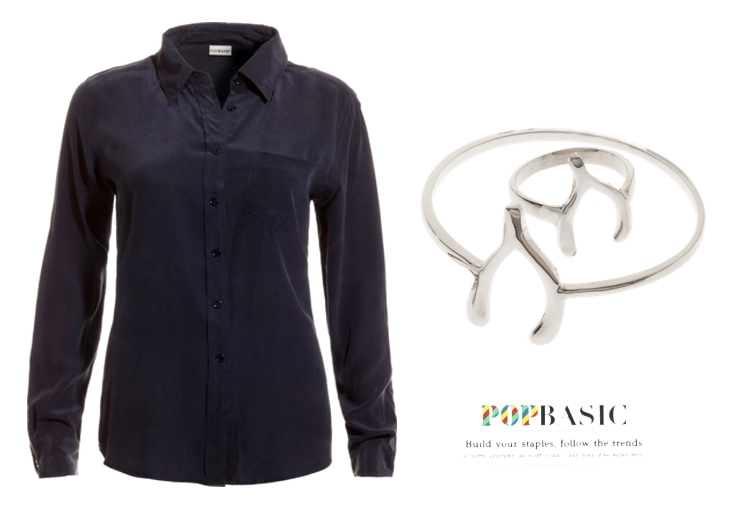 Popbasic, Sunday, silk, shirt, silver, bracelet, ring,