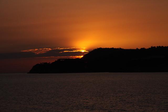 buyukada, sunset