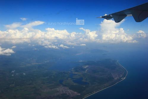 Pemandangan Sibolga dari udara