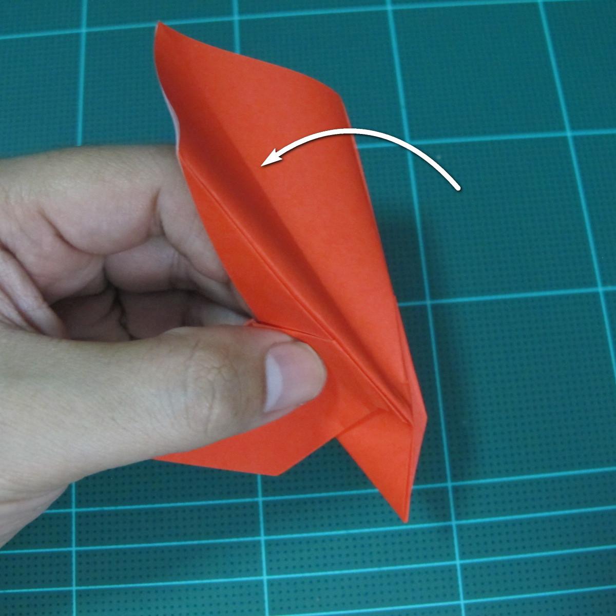 การพับกระดาษเป็นนกพิราบ (Origami pigeon) 00026