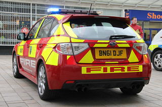 South Yorkshire Fire & Rescue Service Subaru Impreza WRX STI Road Safety Awareness Car