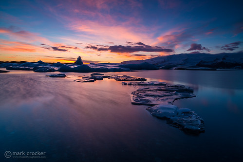winter sunset ice clouds iceland europe lagoon glacier jokulsarlon settingsun packice