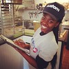 DC-based Custom Fuel Pizza  is now open in Harlem on 123rd St &FDB! This lovely lady is ready to take your order!