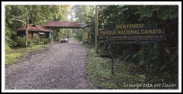 Entrada Parque nacional Cahuita, Puerto Vargas