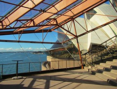 Through the windows of the Opera House