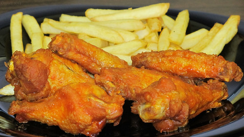 Buffalo wings and fries by Coyoty