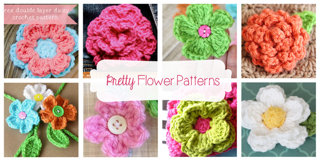 Pretty Flower Patterns by Daisy Cottage Designs