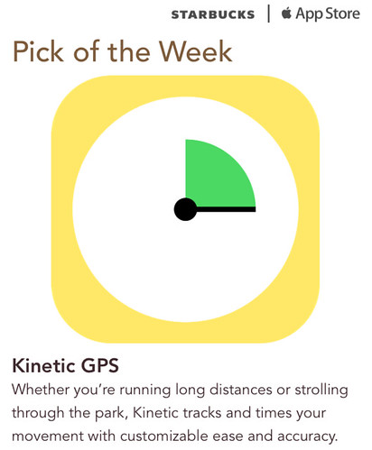 Starbucks iTunes Pick of the Week - Kinetic GPS