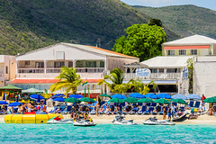 Jet skis are popular at Great Bay Beach in Philipsburg, St. Maarten