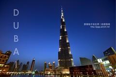 Dubai 哈里發塔夜景 Burj Khalifa