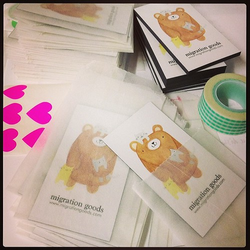 Packing up Crazy Cat Bear magnets (free with any purchase!) for #artstarcraftbazaar this weekend.