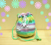 Cute little girls crochet shoulder bag purse in beautiful pastel colors