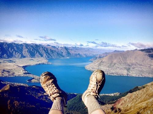 View from Lina's feet on Ben Lomond Summit