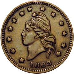 1863 Turban Head token brockage error2