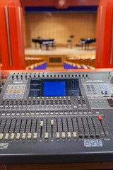 electronic device, mixing console, electronic instrument,