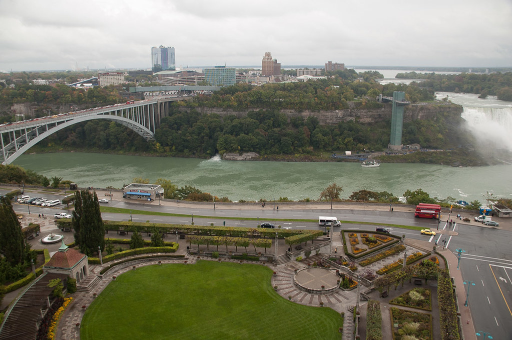View of Rainbow Bridge from Sheraton on the Falls