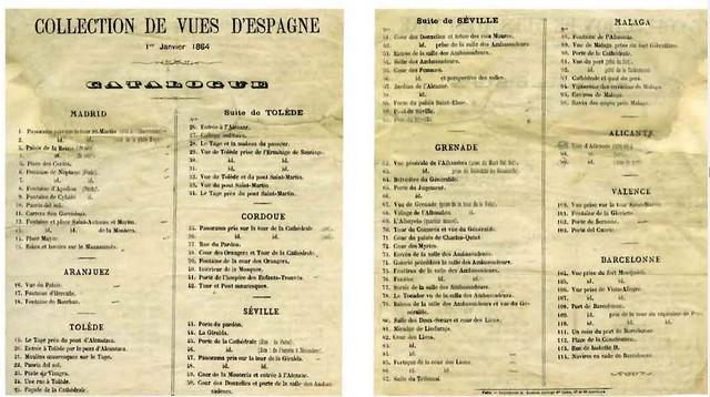 Catálogo de vistas de España de Ernest Lamy. Colección de Carlos Sánchez