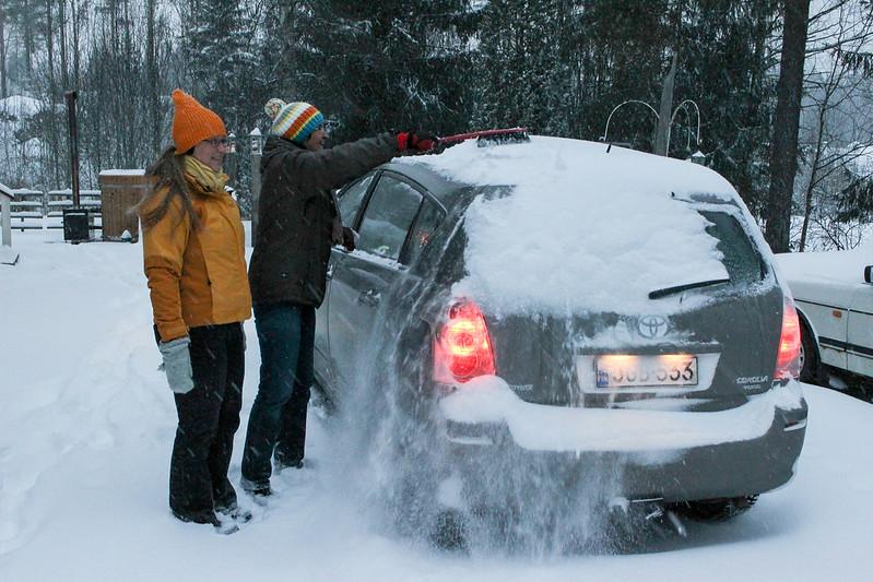 snow, Kokemäki, Finland