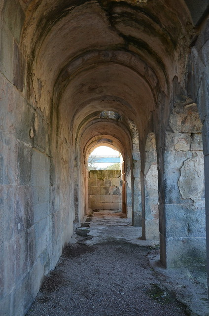 The Roman bath complex, built in the 1st century AD, Forum Traiani (Fordongianus), Sardinia