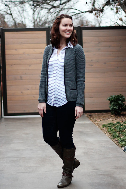 black-and-white-stripe-shirt-cardigan-jeans-7