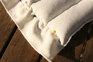 Tuto couture - bouillotte dorsale graines de lin - Etape 12