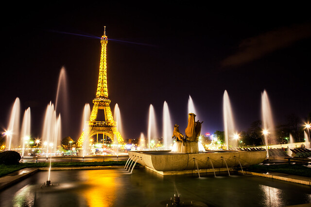 Paris Eiffel Tower at Night by Michael Matti