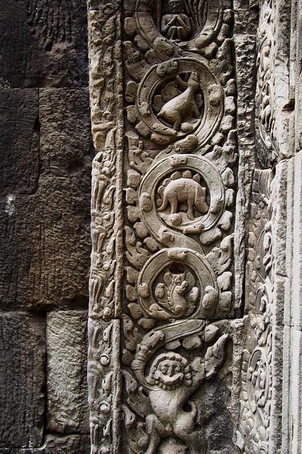 wait, a stegosaurus? Angkor Complex, Siem Reap, Cambodia